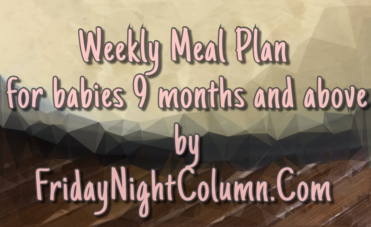 FNC Weekly Meal Plan For Babies 9 months and above #06