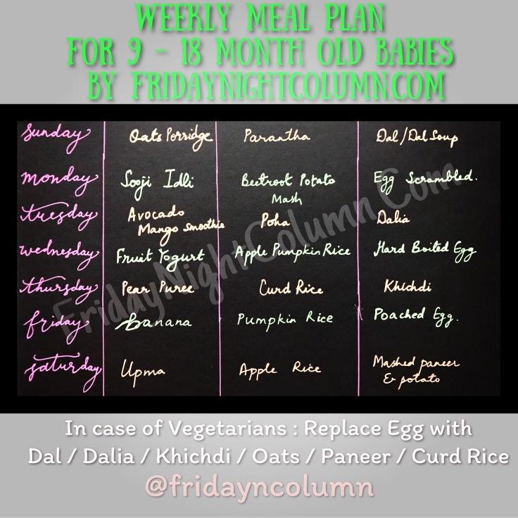 FNC Weekly Meal Plan # 01
