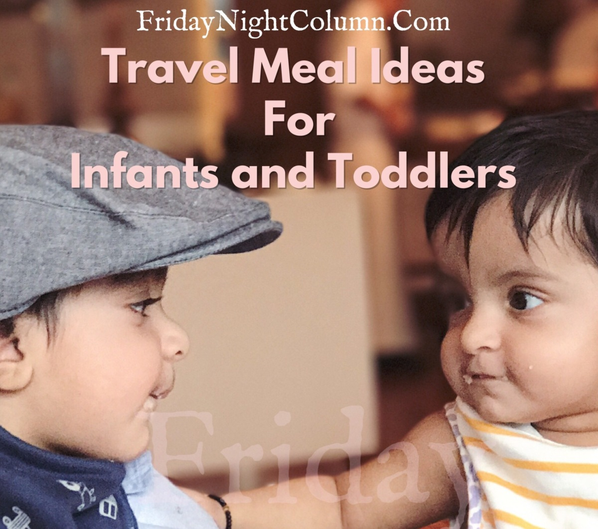 Travel Meal Ideas For Infants and Toddlers