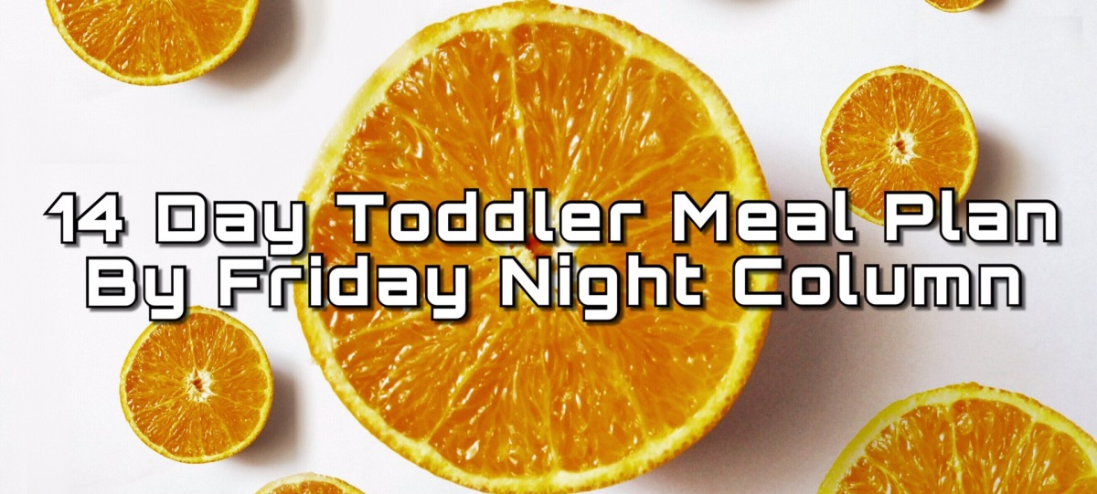 14 day Toddler Meal Plan by Friday Night Column #02