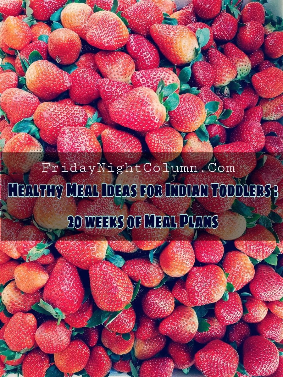 Healthy Meal Ideas for Indian Toddlers : 20 weeks of Meal Plans